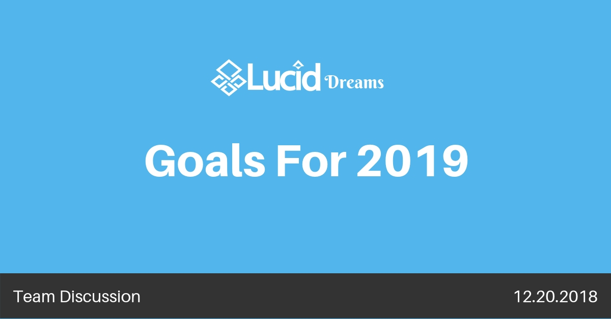 Goals for 2019